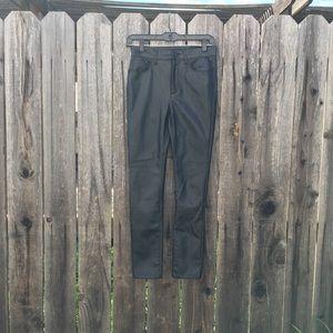 BDG faux black leather high waist pants